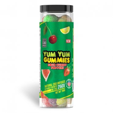 Yum Yum Gummies 250x - CBD Infused Sour Poppers [Edible Candy]