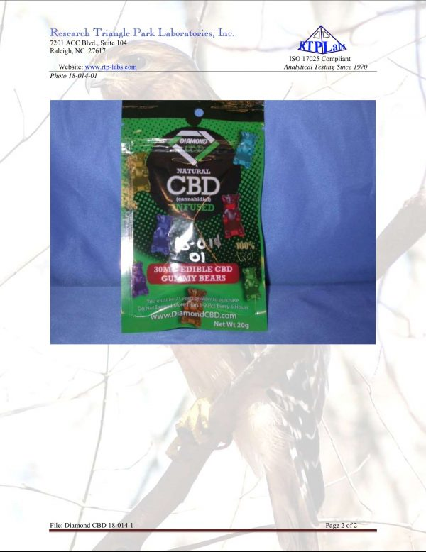 Lab Report Diamond CBD Gummies 2 5