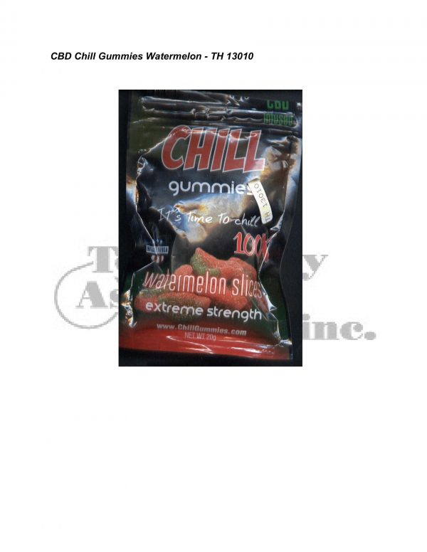 Synthetic Cannab. Analysis CBD Chill Gummies Watermelon TH 13010 5 24 08 Revised 3 2